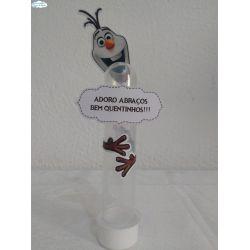 Aplique de tubete Frozen - Olaf