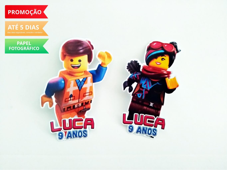 Nuvem de algodão personalizados - Aplique de tubete Lego Movie