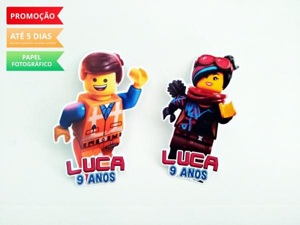 Aplique de tubete Lego Movie-Aplique de tubete Lego Movie  Fazemos em qualquer tema. Envie nome e idade para personalização
