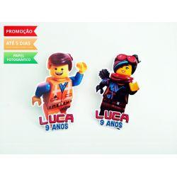 Aplique de tubete Lego Movie