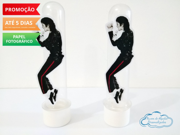 Aplique de tubete Michael Jackson-Aplique de tubete Michael Jackson   Fazemos em qualquer tema. Envie nome e idade para personaliza