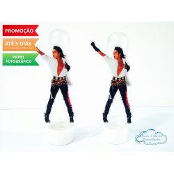 Aplique de tubete Michael Jackson - roupa branca