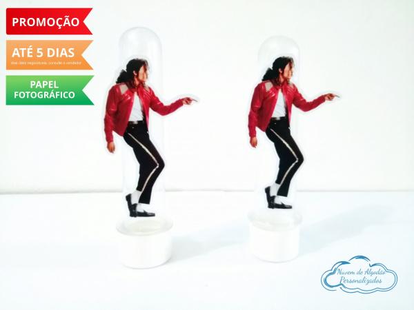 Aplique de tubete Michael Jackson - roupa vermelha-Aplique de tubete Michael Jackson - roupa vermelha  Fazemos em qualquer tema. Envie nome e idade