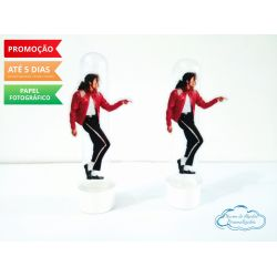 Aplique de tubete Michael Jackson - roupa vermelha