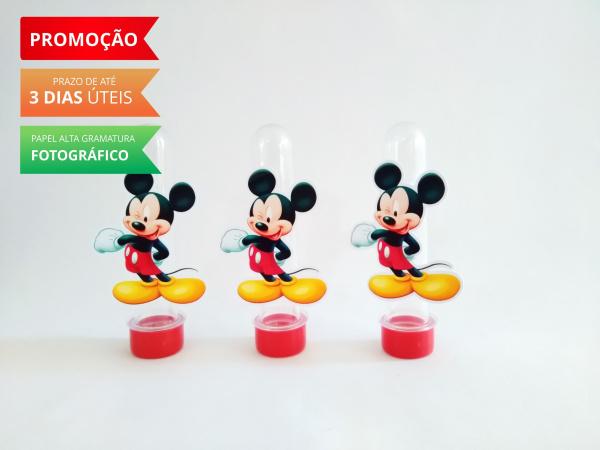 Aplique de tubete Mickey-Aplique de tubete Mickey  Fazemos em qualquer tema. Envie nome e idade para personalização e da