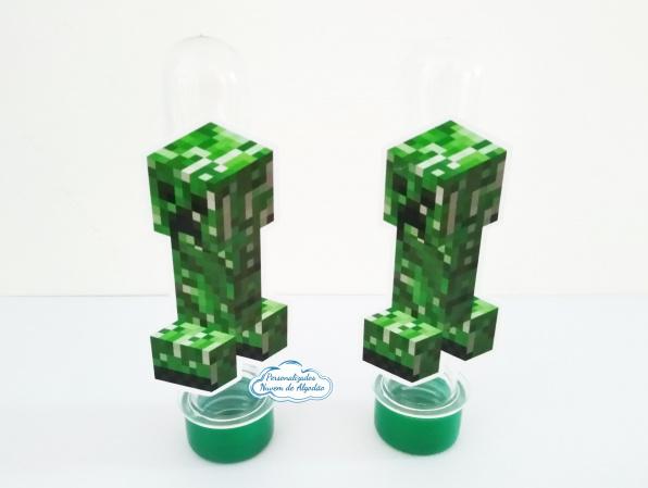 Aplique de tubete Minecraft - Creeper-Aplique de tubete Minecraft - Creeper  Fazemos em qualquer tema. Envie nome e idade para personal