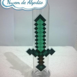 Aplique de tubete Minecraft - Espada