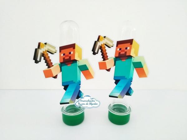Aplique de tubete Minecraft - Steve-Aplique de tubete Minecraft - Steve  Fazemos em qualquer tema. Envie nome e idade para personaliz