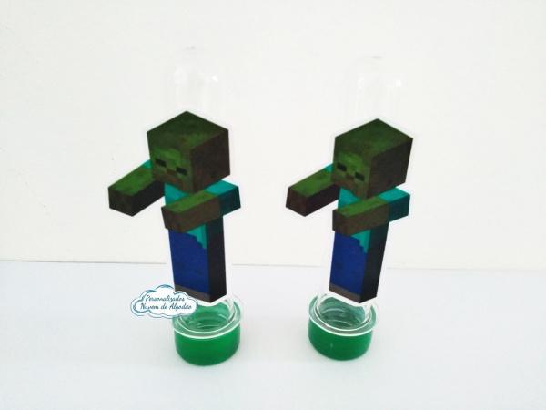 Aplique de tubete Minecraft - Zumbi-Aplique de tubete Minecraft - Zumbi  Fazemos em qualquer tema. Envie nome e idade para personaliz