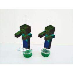 Aplique de tubete Minecraft - Zumbi