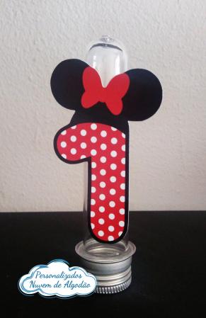 Aplique de tubete Minnie Vermelha-Aplique de tubete Minnie Vermelha  Fazemos em qualquer tema. Envie nome e idade para personalizaç