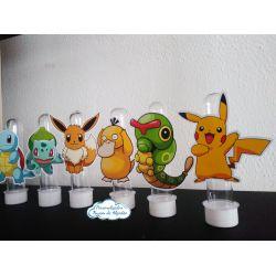 Aplique de tubete Pokemon pikachu