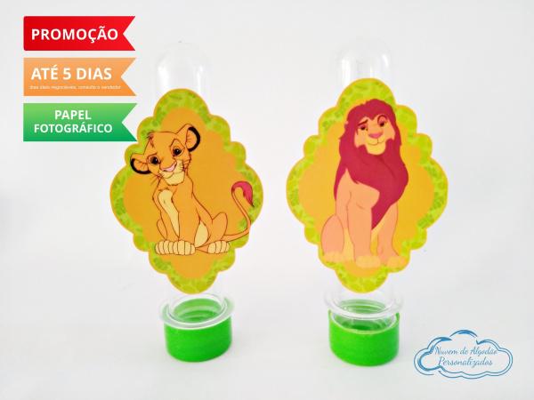 Aplique de tubete Rei leão-Aplique de tubete Rei leão  Fazemos em qualquer tema. Envie nome e idade para personalização e