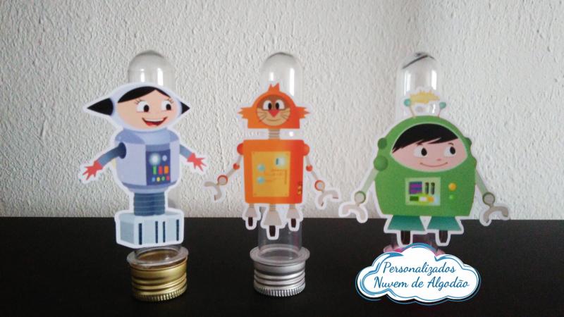 Aplique de tubete Show da luna - Robô-Aplique de tubete Show da luna - Robô  Fazemos em qualquer tema. Envie nome e idade para persona