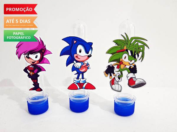 Aplique de tubete Sonic Underground-Aplique de tubete Sonic Underground  Fazemos em qualquer tema. Envie nome e idade para personaliz
