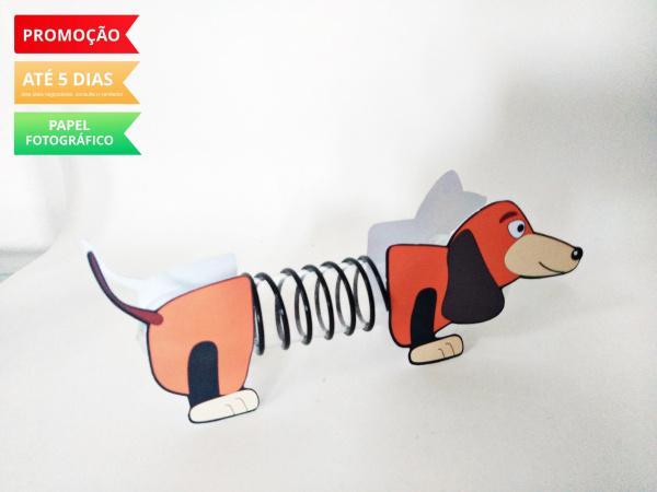 Aplique de tubete Toy Story - Slinky-Aplique de tubete Toy Story - Slinky  Fazemos em qualquer tema. Envie nome e idade para personali