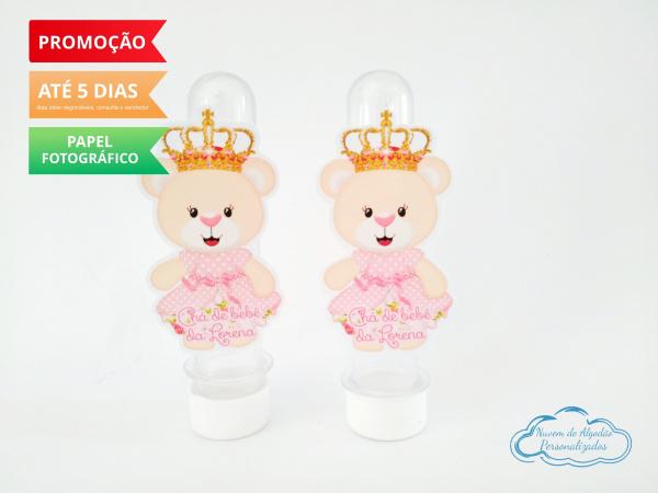 Aplique de tubete Ursinha Princesa em pé-Aplique de tubete Ursinha Princesa em pé  Fazemos em qualquer tema. Envie nome e idade para pers