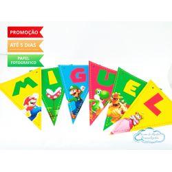 Bandeirola Super Mario Bros