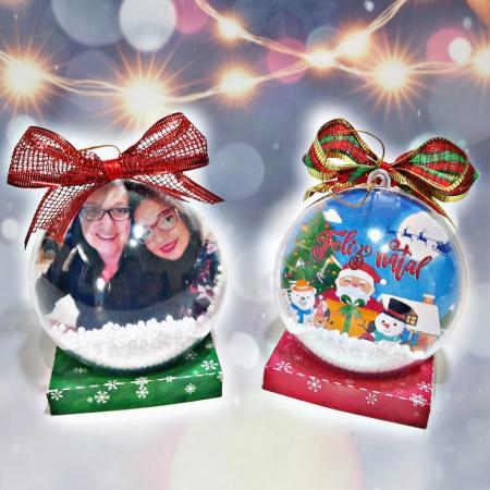 Bola de Natal personalizada-Bola de Natal personalizada bola 6/6,5cm  Imagem frente e verso. Envie a foto desejada após pag