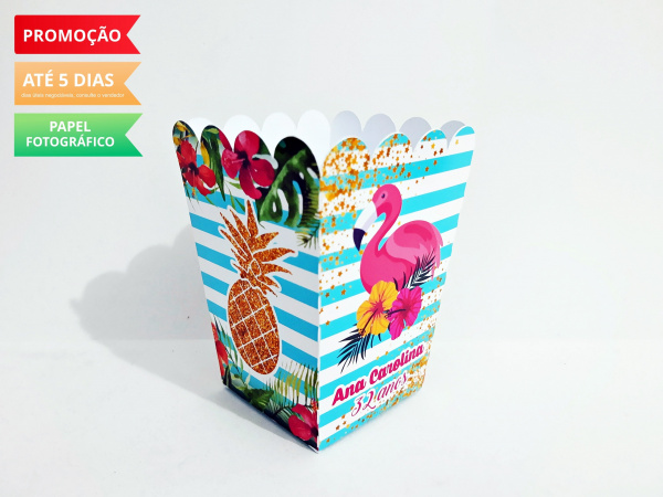 Cachepô P Flamingo e Abacaxi-Cachepô P Flamingo e Abacaxi Consulte-nos para outros tamanhos. Fazemos em qualquer tema. Envie