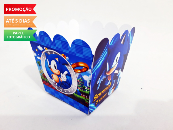 Cachepô P Sonic-Cachepô P Sonic Consulte-nos para outros tamanhos. Fazemos em qualquer tema. Envie nome e idade