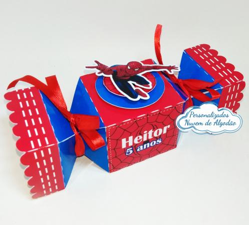 Caixa bala inteira Homem aranha-Caixa bala inteira Homem aranha Fazemos todos os temas e cores.  Na hora do seu pedido informe os