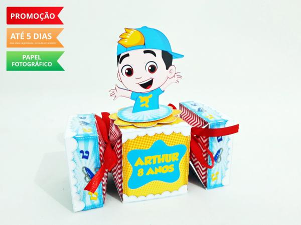 Caixa bala inteira Luccas Neto-Caixa bala inteira Luccas Neto Fazemos todos os temas e cores.  Na hora do seu pedido informe os