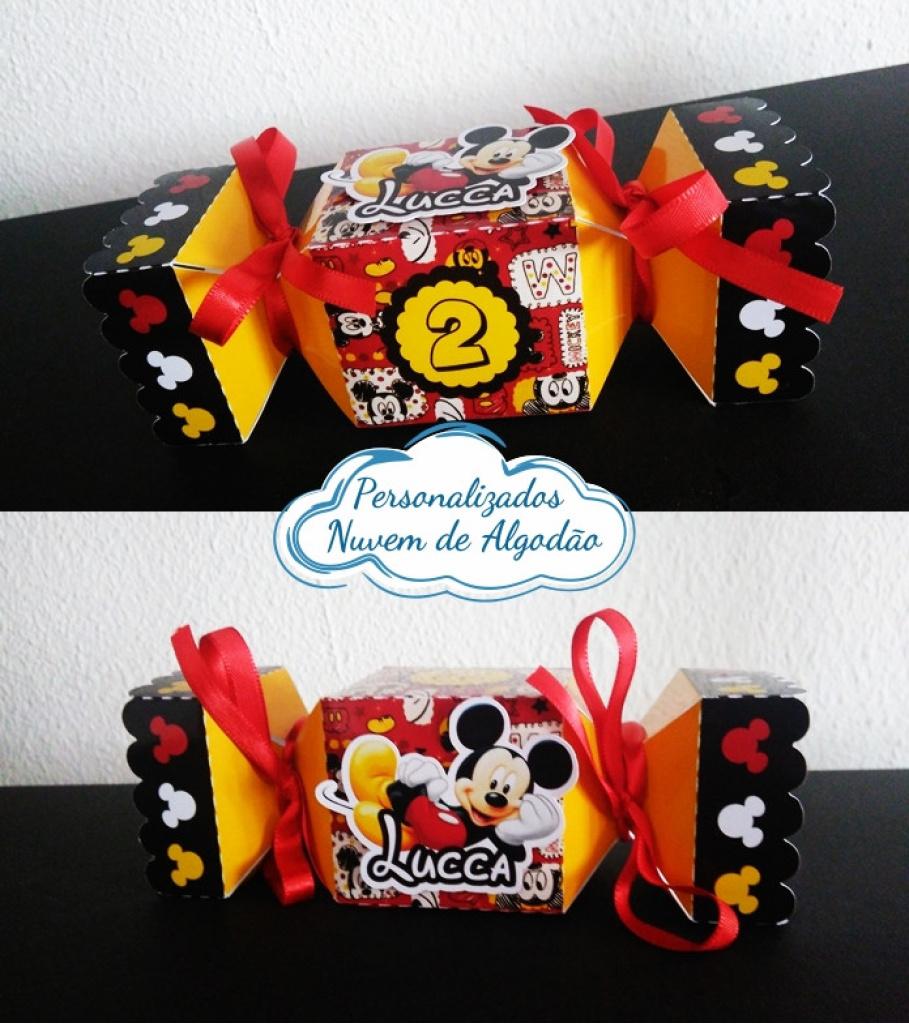 Nuvem de algodão personalizados - Caixa bala inteira Mickey