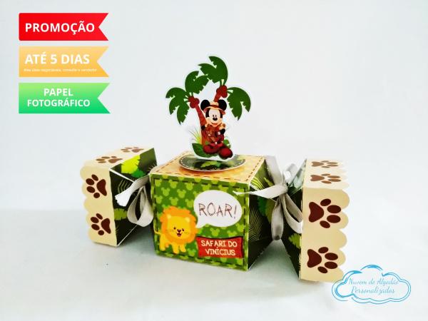Caixa bala inteira Mickey Safari-Caixa bala inteira Mickey Safari Fazemos todos os temas e cores.  Na hora do seu pedido informe o