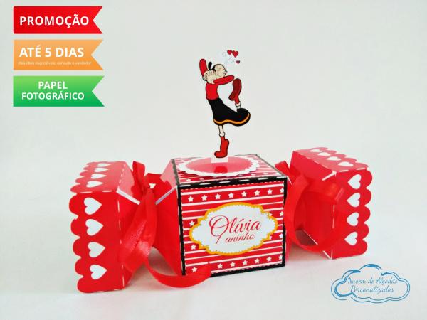 Caixa bala inteira Olivia Palito-Caixa bala inteira Olivia Palito Fazemos todos os temas e cores.  Na hora do seu pedido informe o