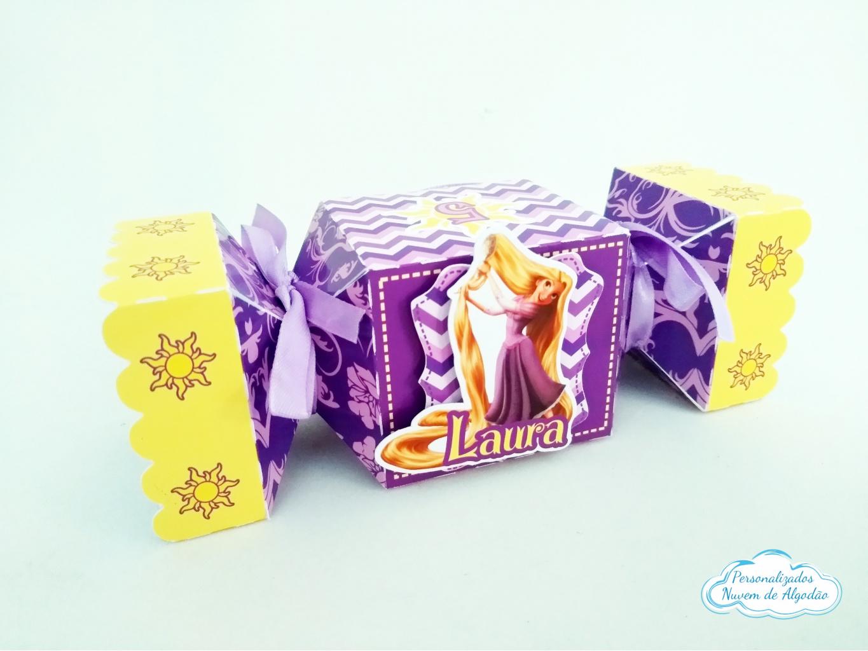 Nuvem de algodão personalizados - Caixa bala inteira Rapunzel