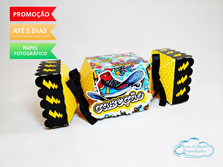 Nuvem de algodão personalizados - Caixa bala inteira Skate