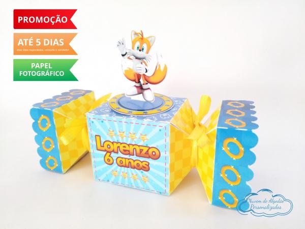 Caixa bala inteira Sonic - Tails-Caixa bala inteira Sonic - Tails Fazemos todos os temas e cores.  Na hora do seu pedido informe o