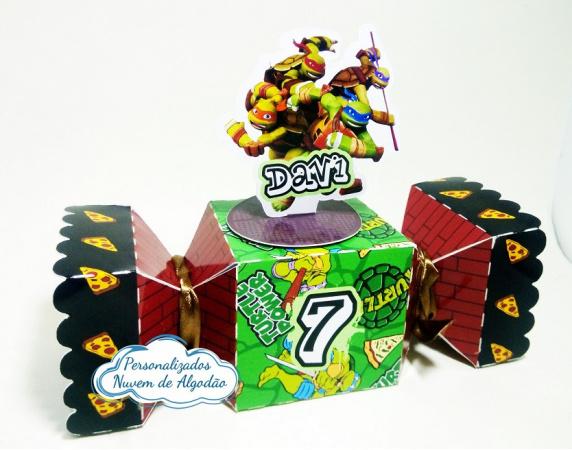 Caixa bala inteira Tartarugas Ninja-Caixa bala inteira Tartarugas Ninja Fazemos todos os temas e cores.  Na hora do seu pedido inform
