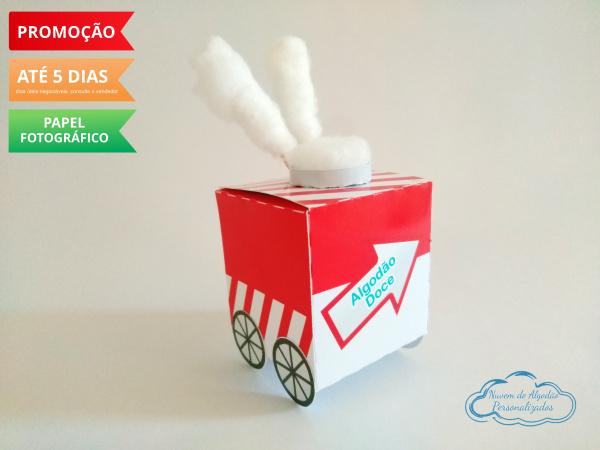 Caixa carrinho de algodão doce Circo-Caixa carrinho de algodão doce Circo  Fazemos todos os temas  Na hora do seu pedido informe os