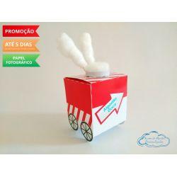 Caixa carrinho de algodão doce Circo