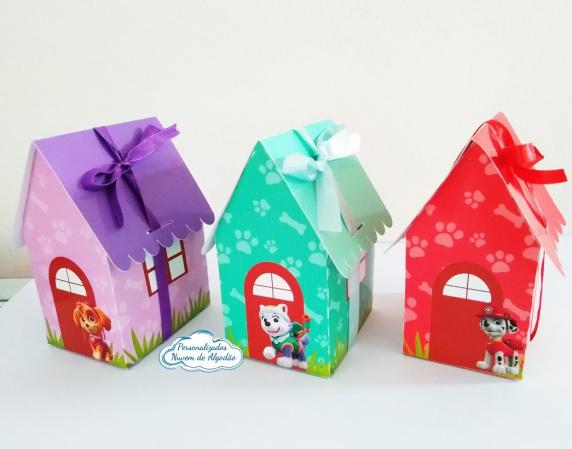 Caixa casinha colorida Patrulha Canina-Caixa casinha colorida Patrulha Canina   Fazemos todos os temas e cores.  Na hora do seu pedido