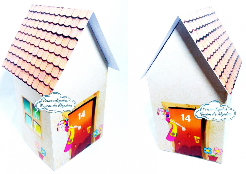 Nuvem de algodão personalizados - Caixa casinha Vila do Chaves
