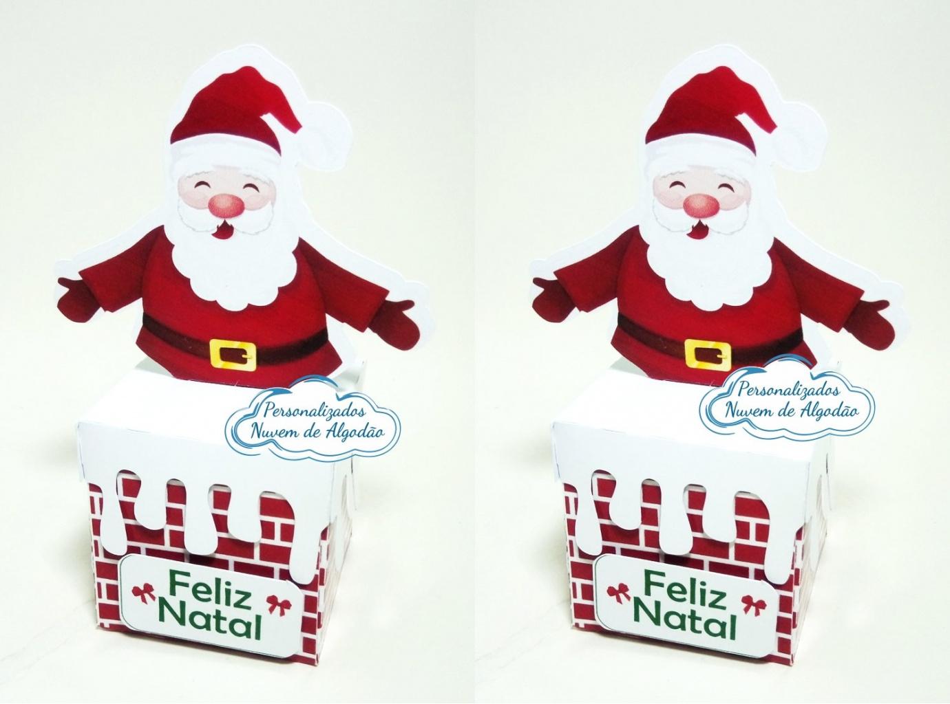 Nuvem de algodão personalizados - Caixa chaminé Natal