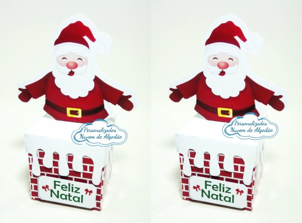 Caixa chaminé Natal-Caixa chaminé Natal   Fazemos todos os temas  Na hora do seu pedido informe os dados para perso