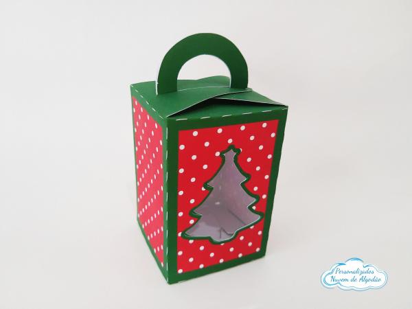 Caixa com visor Árvore de Natal-Caixa com visor Árvore de Natal   - Papel fotográfico glossy 230g - Produto vai desmontado. -