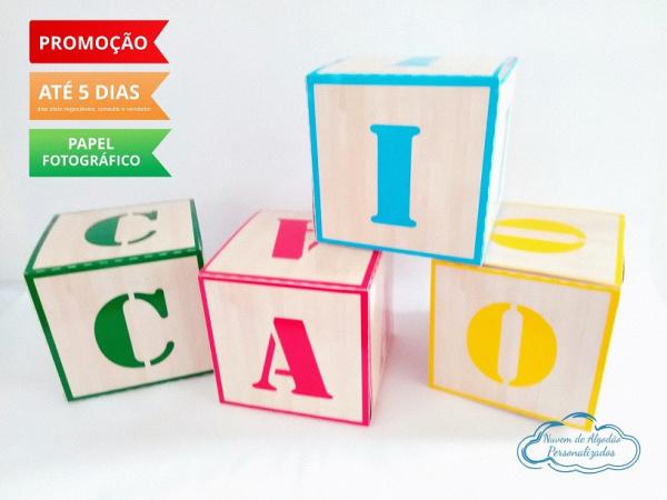 Caixa cubo letra Toy Story-Caixa cubo letra Toy Story Fazemos em qualquer tema. Envie nome e idade para personalização.