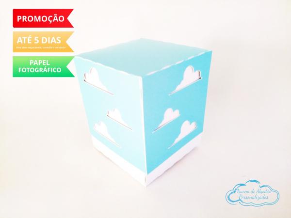 Caixa cubo Toy Story - nuvem-Caixa cubo Toy Story - nuvem Fazemos em qualquer tema. Envie nome e idade para personalização.