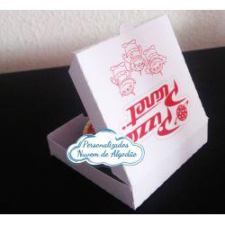 Caixa de pizza para latinha 5x5 com adesivo