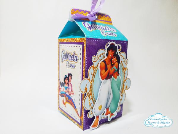 Caixa milk Aladdin-Caixa milk Aladdin Fazemos em qualquer tema. Envie nome e idade para personalização.  - Produt