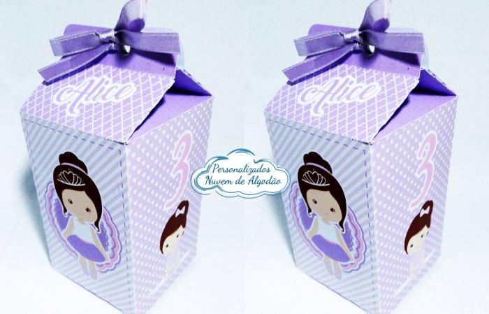 Caixa milk Bailarina Lilas-Caixa milk Bailarina Lilas Fazemos em qualquer tema. Envie nome e idade para personalização.