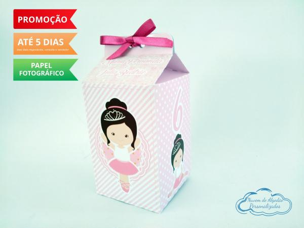 Caixa milk Bailarina Rosa-Caixa milk Bailarina Rosa Fazemos em qualquer tema. Envie nome e idade para personalização.  -