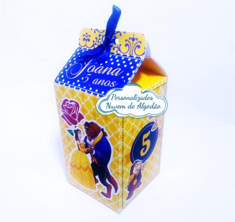 Caixa milk Bela e a Fera-Caixa milk Bela e a Fera Fazemos em qualquer tema. Envie nome e idade para personalização.  -