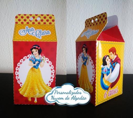 Caixa milk Branca de neve-Caixa milk Branca de neve Fazemos em qualquer tema. Envie nome e idade para personalização.  -