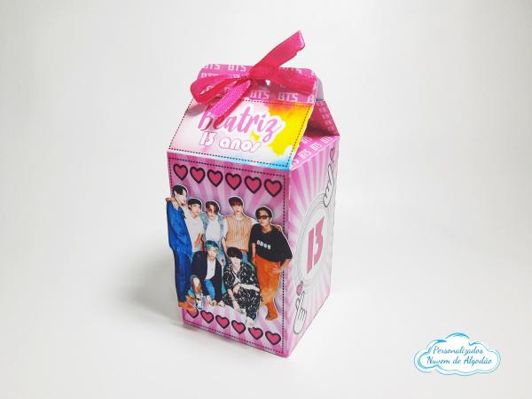 Caixa milk BTS-Caixa milk BTS Fazemos em qualquer tema. Envie nome e idade para personalização.  - Produto va